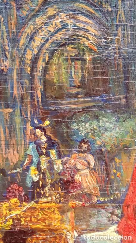 Arte: ÓLEO S/TABLA, PRENDIMIENTO DE JEREZ -EL PRENDI-. FIRMADO CON INICIALES 1947. DIM.- 44X32.5 CMS - Foto 4 - 195332608