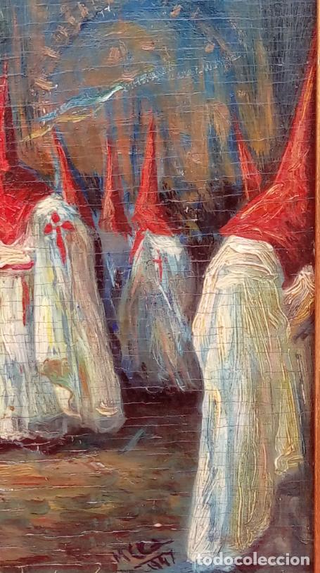 Arte: ÓLEO S/TABLA, PRENDIMIENTO DE JEREZ -EL PRENDI-. FIRMADO CON INICIALES 1947. DIM.- 44X32.5 CMS - Foto 6 - 195332608