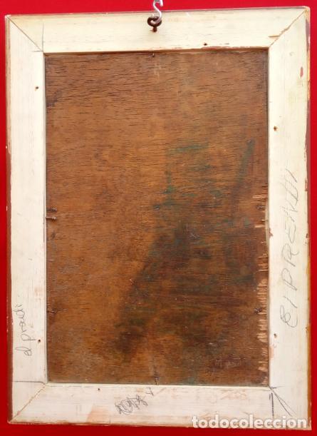 Arte: ÓLEO S/TABLA, PRENDIMIENTO DE JEREZ -EL PRENDI-. FIRMADO CON INICIALES 1947. DIM.- 44X32.5 CMS - Foto 8 - 195332608