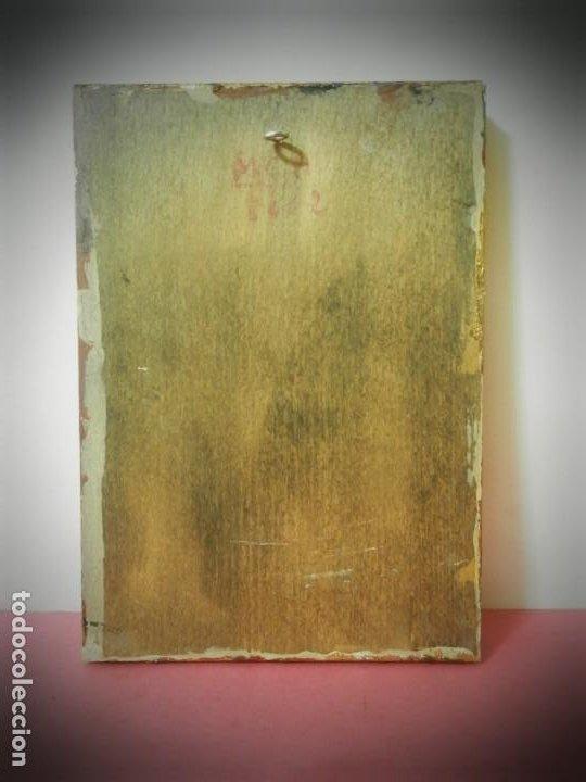 Arte: ICONO RUSO PINTADO A MANO SOBRE TABLA. VIRGEN Y NIÑO JESUS. TONOS DORADOS - Foto 3 - 195334283