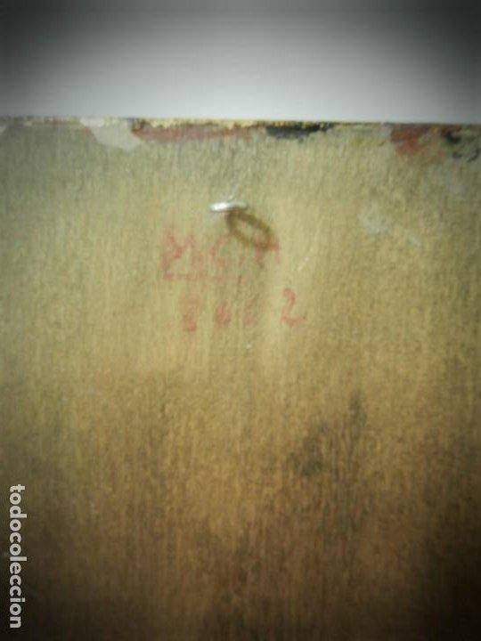 Arte: ICONO RUSO PINTADO A MANO SOBRE TABLA. VIRGEN Y NIÑO JESUS. TONOS DORADOS - Foto 4 - 195334283