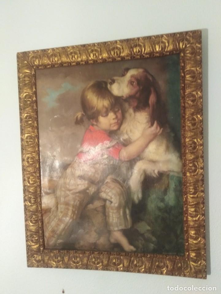 BONITO CUADRO ENMARCADO Y FIRMADO REF 0179 (Arte - Arte Religioso - Pintura Religiosa - Oleo)