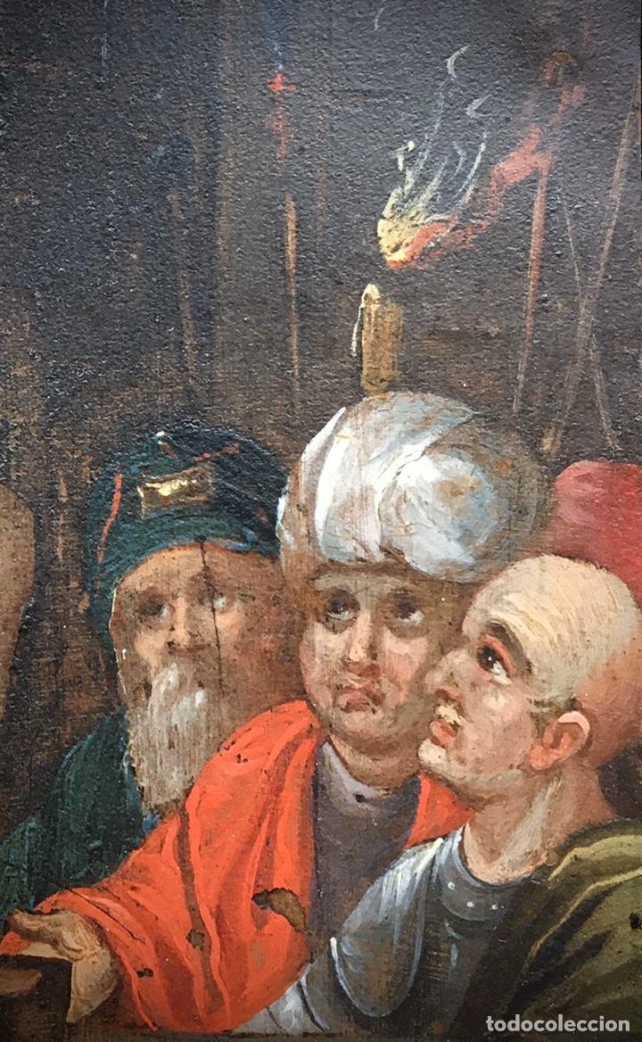 Arte: El Juicio de Jesús. Óleo sobre cobre. S.XVII - Foto 3 - 195335606