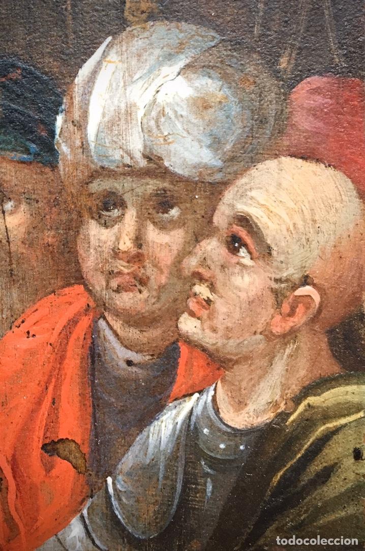 Arte: El Juicio de Jesús. Óleo sobre cobre. S.XVII - Foto 4 - 195335606