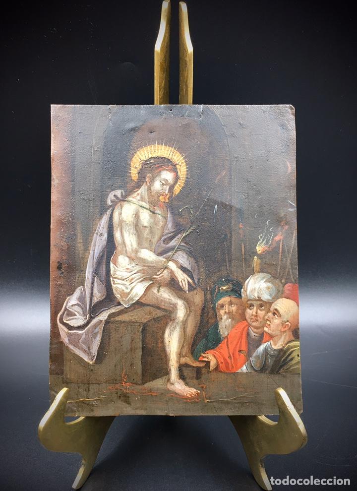 EL JUICIO DE JESÚS. ÓLEO SOBRE COBRE. S.XVII (Arte - Arte Religioso - Pintura Religiosa - Oleo)
