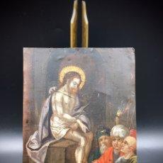 Arte: EL JUICIO DE JESÚS. ÓLEO SOBRE COBRE. S.XVII. Lote 195335606
