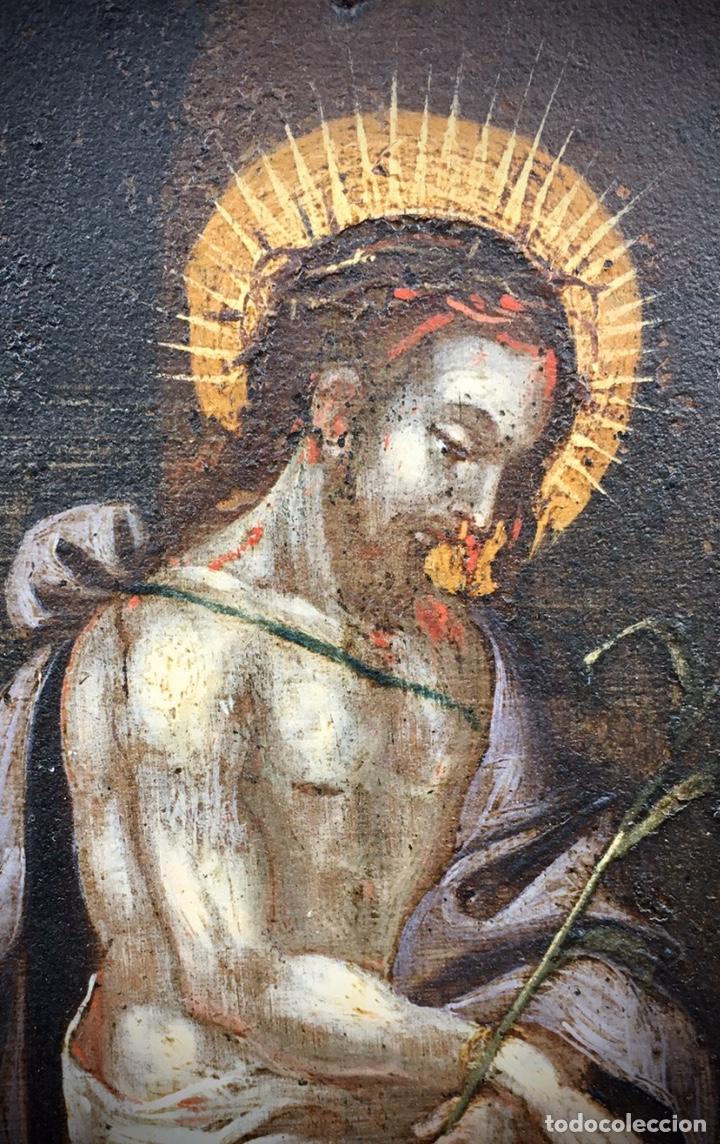 Arte: El Juicio de Jesús. Óleo sobre cobre. S.XVII - Foto 6 - 195335606