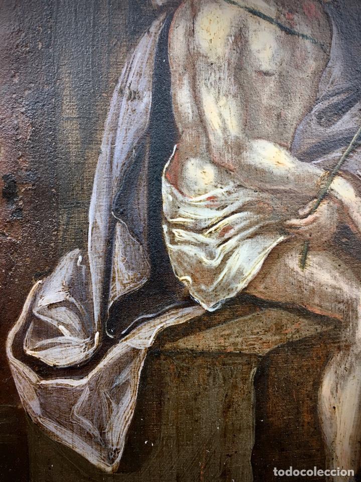 Arte: El Juicio de Jesús. Óleo sobre cobre. S.XVII - Foto 7 - 195335606