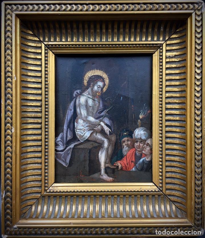 Arte: El Juicio de Jesús. Óleo sobre cobre. S.XVII - Foto 9 - 195335606
