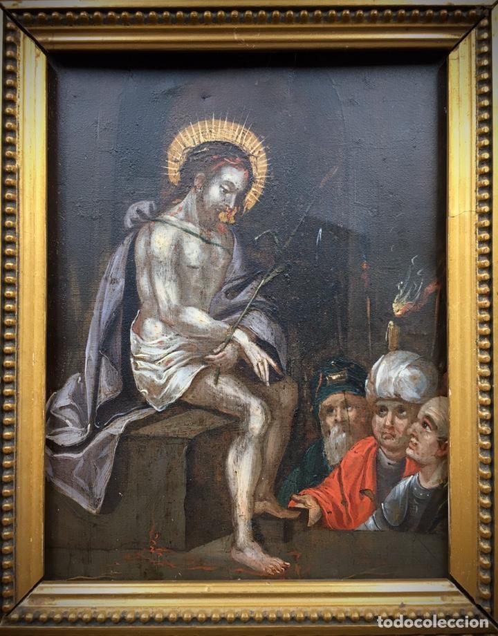 Arte: El Juicio de Jesús. Óleo sobre cobre. S.XVII - Foto 10 - 195335606