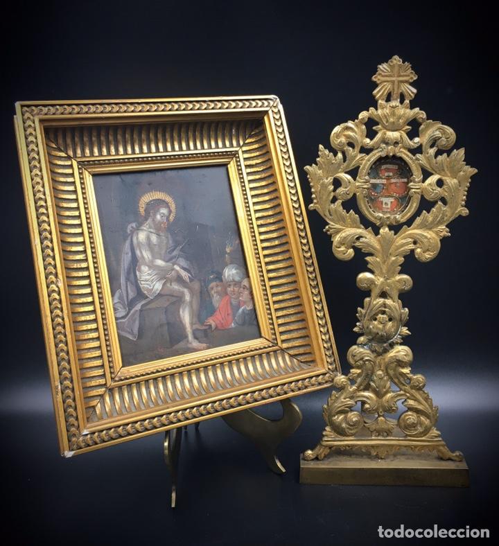 Arte: El Juicio de Jesús. Óleo sobre cobre. S.XVII - Foto 13 - 195335606