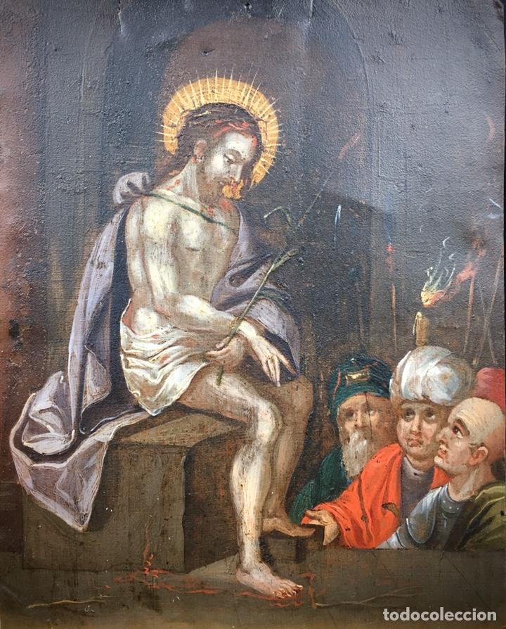 Arte: El Juicio de Jesús. Óleo sobre cobre. S.XVII - Foto 2 - 195335606