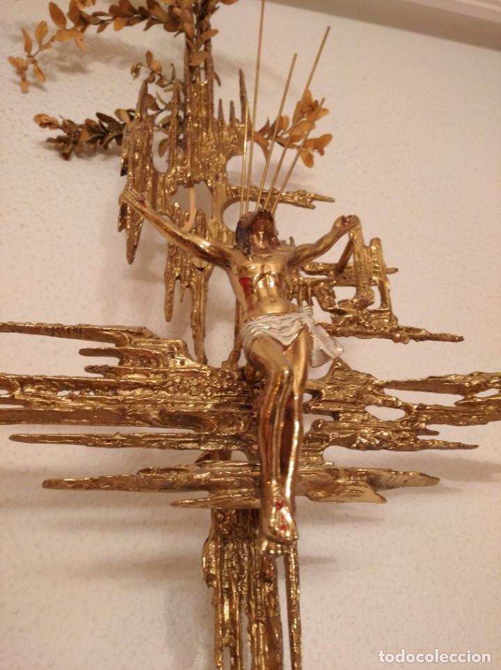 Arte: Crucifijo bronce, estilo Dalí. - Foto 3 - 195364030