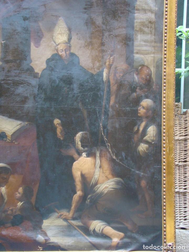 Arte: CUADRO SIGLO XVIII. GRAN FORMATO. Óleo-lienzo copia de época de Murillo. - Foto 2 - 195382972