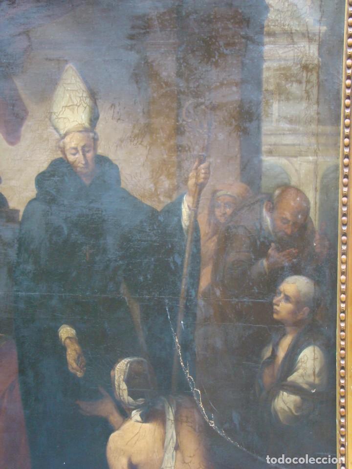 Arte: CUADRO SIGLO XVIII. GRAN FORMATO. Óleo-lienzo copia de época de Murillo. - Foto 3 - 195382972