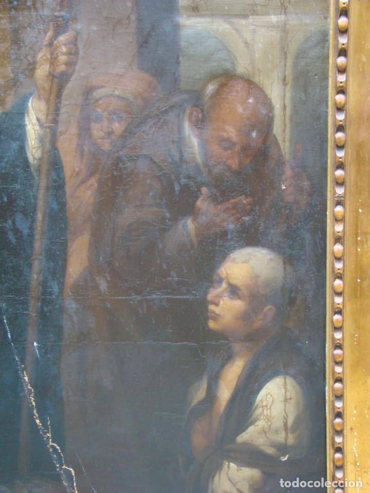 Arte: CUADRO SIGLO XVIII. GRAN FORMATO. Óleo-lienzo copia de época de Murillo. - Foto 4 - 195382972