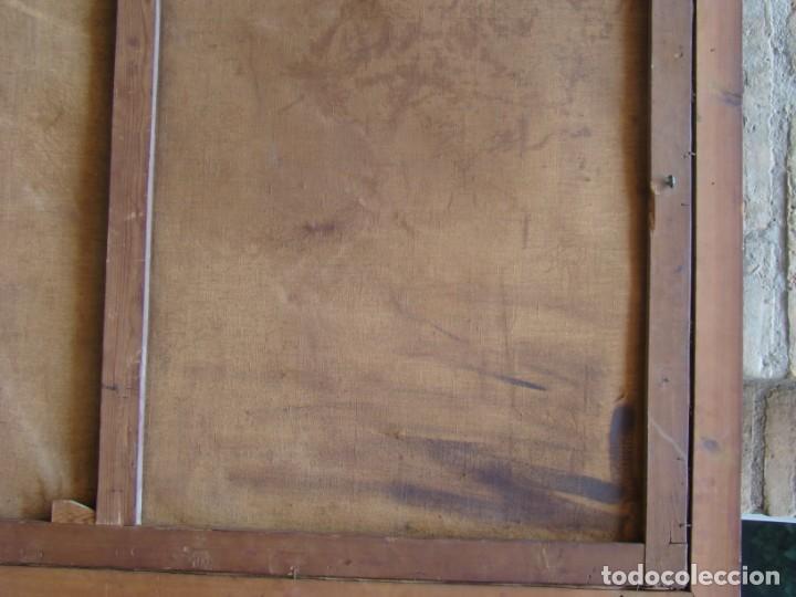 Arte: CUADRO SIGLO XVIII. GRAN FORMATO. Óleo-lienzo copia de época de Murillo. - Foto 6 - 195382972