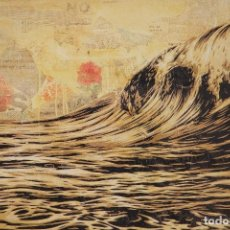 Arte: SHEPARD FAIREY OBEY GIANT DARK WAVE EN 2010. Lote 195397955