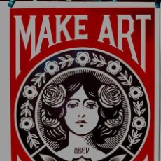 Arte: SHEPARD FAIREY (OBEY) - MAKE ART NOT WAR, - 2017 - ANNÉES 2000. Lote 195399938
