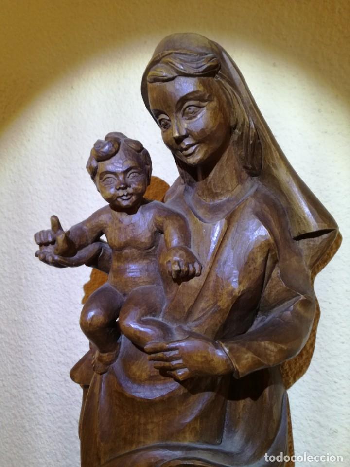Arte: FIGURA VIRGEN MARÍA Y NIÑO JESÚS - Foto 4 - 195409221