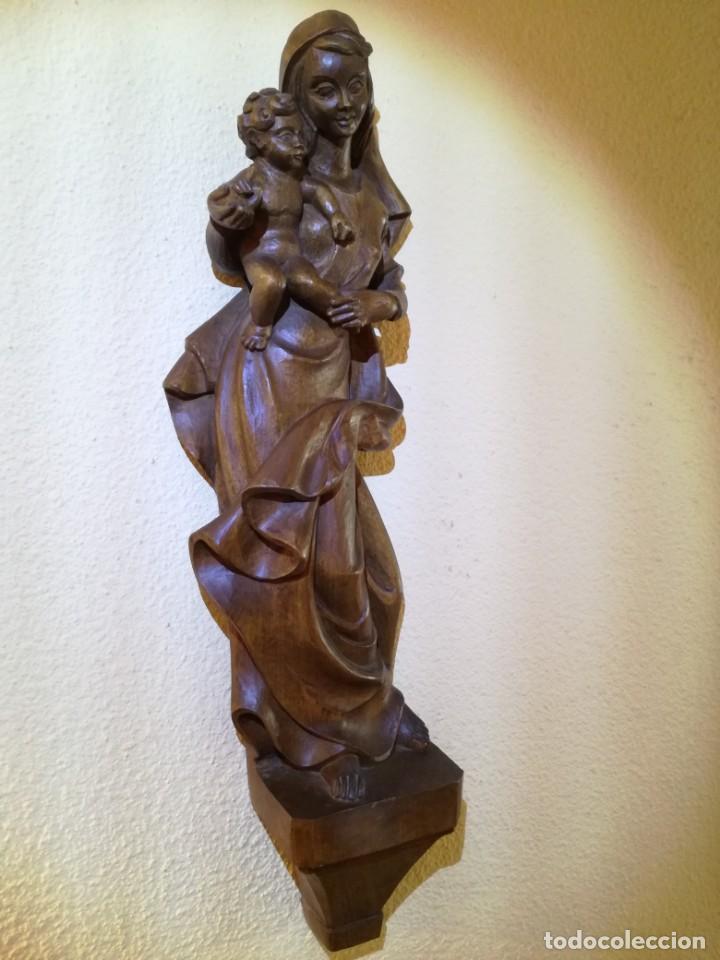 Arte: FIGURA VIRGEN MARÍA Y NIÑO JESÚS - Foto 5 - 195409221