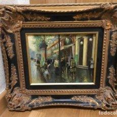 Arte: FREDERICK R. SPENCER (1806-1875) OLEO SOBRE TABLA ESPECTACULAR MARCO MADERA Y ORO PPIOS SIGLO 20. Lote 195409791