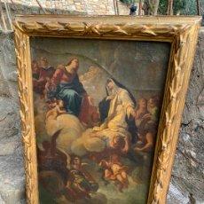 Arte: LA ASUNCION DE LA VIRGEN - MAGNÍFICO E ANTIQUÍSIMO CUADRO, OLEO SOBRE LIENZO. VER MEDIDAS. Lote 195461810