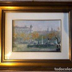Arte: CUADROS NO TAURINOS GARCÍA CAMPOS LOS JERÓNIMOS Y RIA BILBAO. Lote 195484406