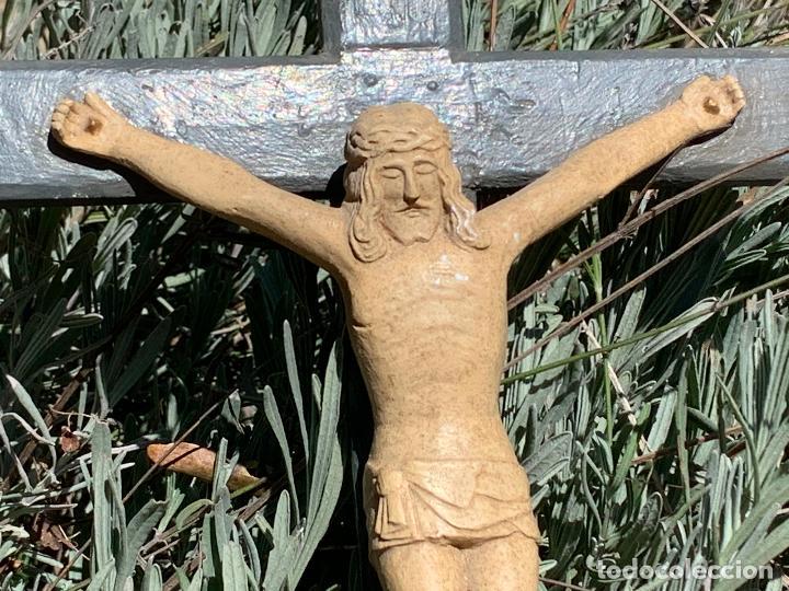 Arte: EXCEPCIONAL CRISTO en pasta de madera o estuco. Talleres De Olot. Pieza unica realizada por encargo. - Foto 5 - 195543971
