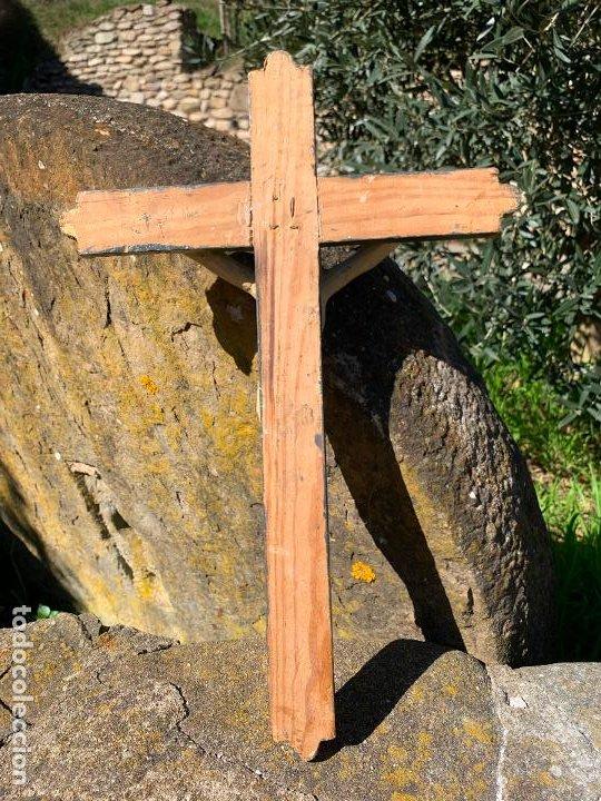 Arte: EXCEPCIONAL CRISTO en pasta de madera o estuco. Talleres De Olot. Pieza unica realizada por encargo. - Foto 8 - 195543971
