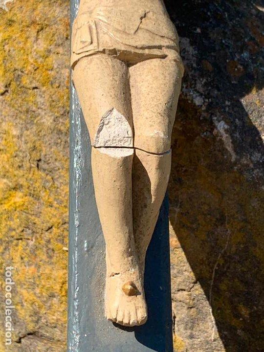 Arte: EXCEPCIONAL CRISTO en pasta de madera o estuco. Talleres De Olot. Pieza unica realizada por encargo. - Foto 16 - 195543971