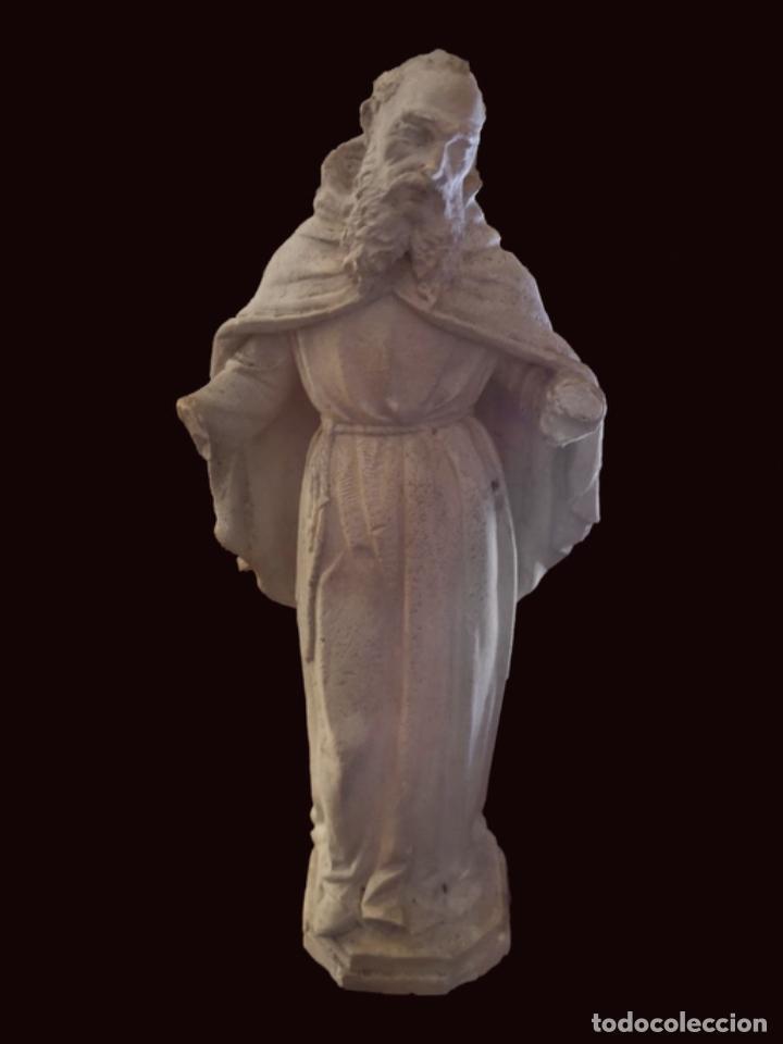 ESCULTURA EN ESCAYOLA O ESTUCO SAN FRANCISCO , AÑOS 30, 26 CM (Arte - Arte Religioso - Escultura)