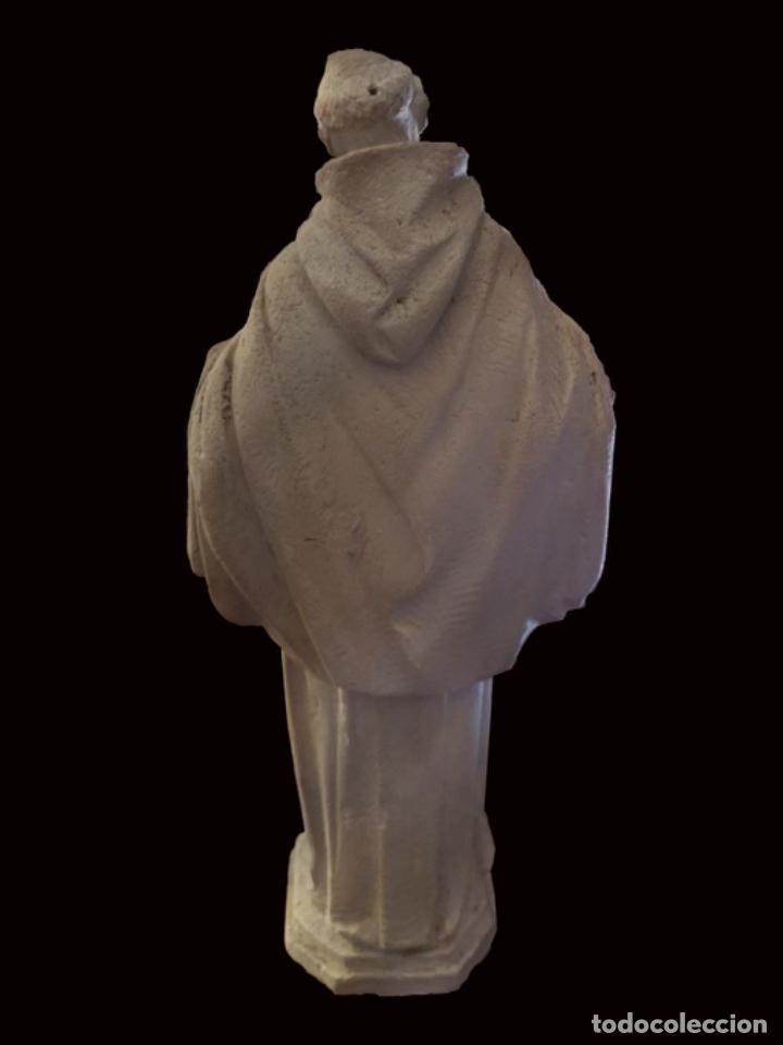 Arte: escultura en escayola o estuco San Francisco , años 30, 26 cm - Foto 2 - 195595572