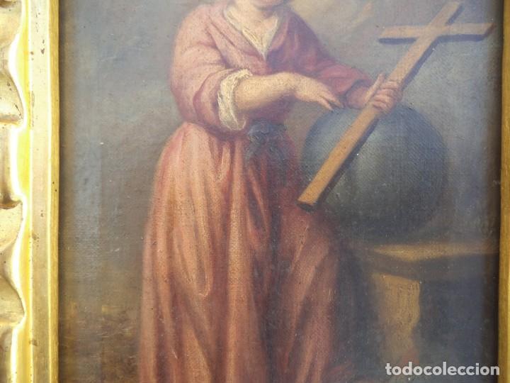 Arte: Oleo sobre lienzo del niño Jesús, siglo xviii - Foto 4 - 195744845