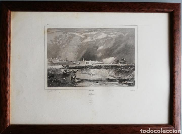 Arte: 14 cuadros con GRABADOS ENMARCADOS - 27 cm x 20 cm - marco nogal - cristal mate - MUY BUEN ESTADO - Foto 2 - 195785210