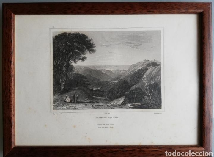 Arte: 14 cuadros con GRABADOS ENMARCADOS - 27 cm x 20 cm - marco nogal - cristal mate - MUY BUEN ESTADO - Foto 3 - 195785210