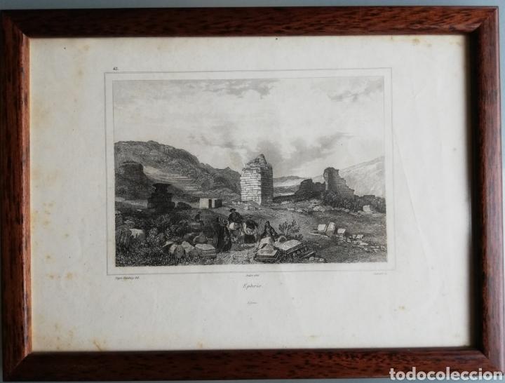 Arte: 14 cuadros con GRABADOS ENMARCADOS - 27 cm x 20 cm - marco nogal - cristal mate - MUY BUEN ESTADO - Foto 4 - 195785210