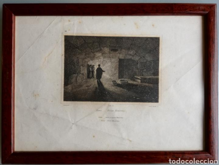 Arte: 14 cuadros con GRABADOS ENMARCADOS - 27 cm x 20 cm - marco nogal - cristal mate - MUY BUEN ESTADO - Foto 5 - 195785210
