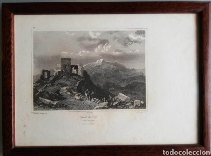 Arte: 14 cuadros con GRABADOS ENMARCADOS - 27 cm x 20 cm - marco nogal - cristal mate - MUY BUEN ESTADO - Foto 7 - 195785210