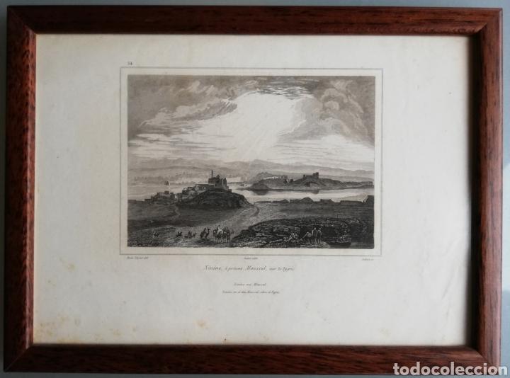 Arte: 14 cuadros con GRABADOS ENMARCADOS - 27 cm x 20 cm - marco nogal - cristal mate - MUY BUEN ESTADO - Foto 9 - 195785210