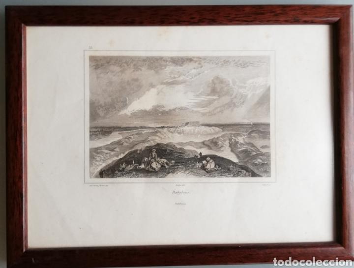 Arte: 14 cuadros con GRABADOS ENMARCADOS - 27 cm x 20 cm - marco nogal - cristal mate - MUY BUEN ESTADO - Foto 11 - 195785210