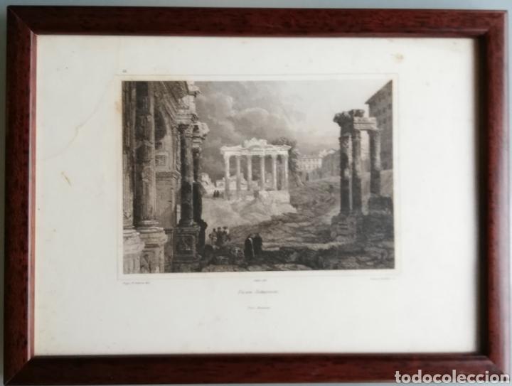 Arte: 14 cuadros con GRABADOS ENMARCADOS - 27 cm x 20 cm - marco nogal - cristal mate - MUY BUEN ESTADO - Foto 12 - 195785210