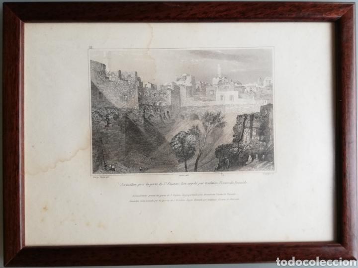 Arte: 14 cuadros con GRABADOS ENMARCADOS - 27 cm x 20 cm - marco nogal - cristal mate - MUY BUEN ESTADO - Foto 13 - 195785210