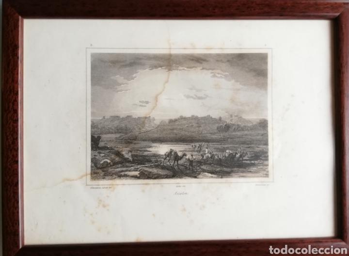 Arte: 14 cuadros con GRABADOS ENMARCADOS - 27 cm x 20 cm - marco nogal - cristal mate - MUY BUEN ESTADO - Foto 14 - 195785210
