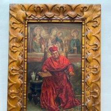 Arte: ÓLEO SOBRE TABLA DEL S. XIX , RETRATO A CARDENAL. Lote 195852500