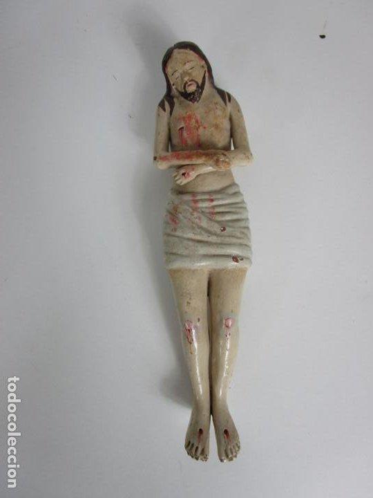 Arte: Antiguo Cristo Yacente - Terracota Policromada - con Urna de Cristal - S. XIX - Foto 9 - 195927678