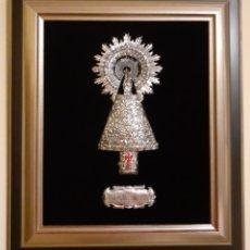 Arte: CUADRO CON IMAGEN DE LA VIRGEN DEL PILAR. Lote 196009756