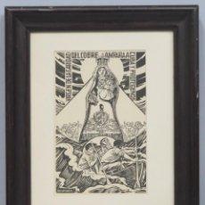 Arte: XILOGRAFIA VIRGEN DEL COBRE. JULIAN NADAL. Lote 196224818