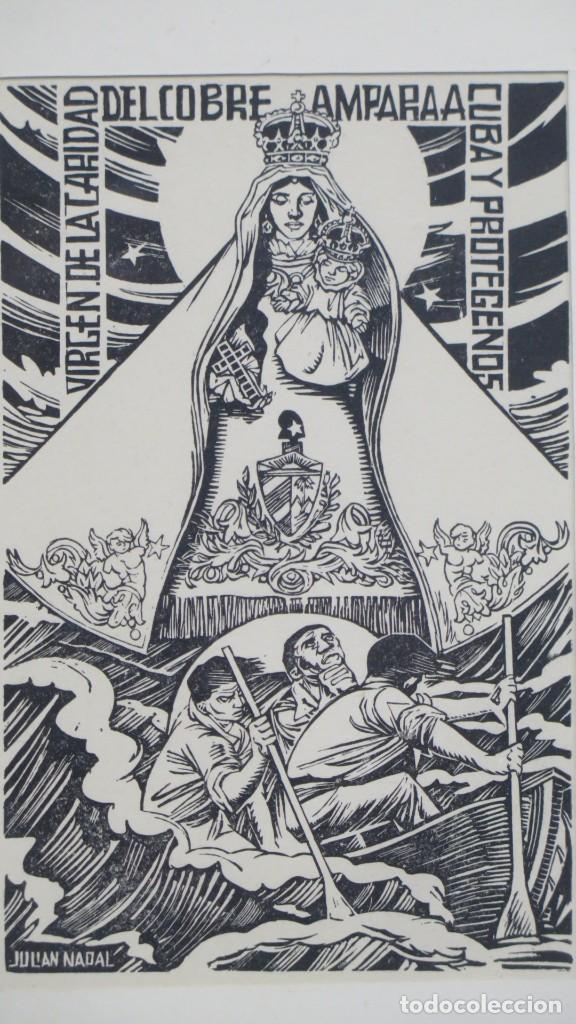 Arte: XILOGRAFIA VIRGEN DEL COBRE. JULIAN NADAL - Foto 2 - 196224818