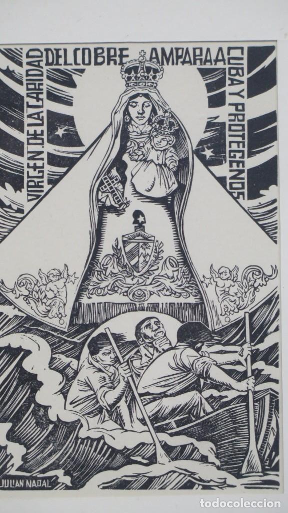 Arte: XILOGRAFIA VIRGEN DEL COBRE. JULIAN NADAL - Foto 3 - 196224818
